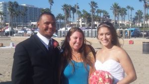 Rev. Sarah performs a beautiful beach ceremony in  Huntington Beach